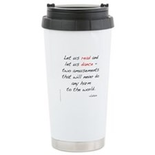 Voltaire on Dance Thermos Mug