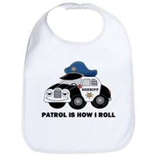 Sheriff Car Patrol Is How I Roll Bib