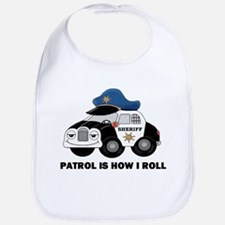 Sheriff Car Patrol Is How I Roll Bib