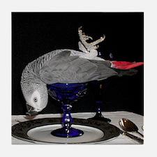 Parrot Dinner Tile Coaster