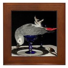 Parrot Dinner Framed Tile