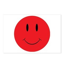 Red Happy Face Postcards (Package of 8)