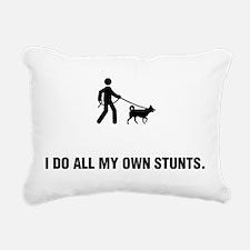 Dog Walking Rectangular Canvas Pillow