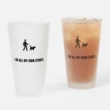 Dog Walking Drinking Glass