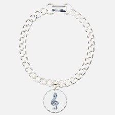 Silver Treble Clef Charm Bracelet, One Charm