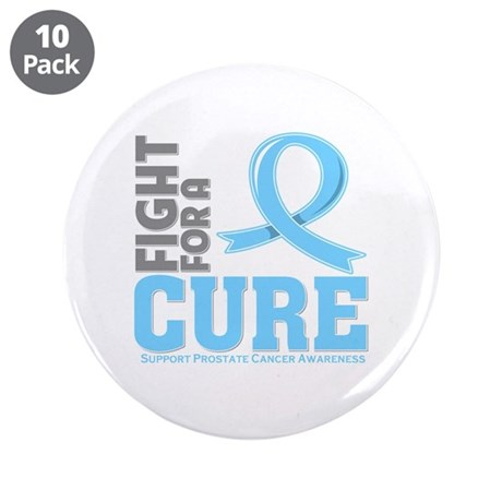 """Prostate Cancer Fight For A Cure 3.5"""" Button (10 p"""