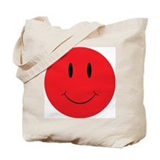 Red Happy Face Tote Bag