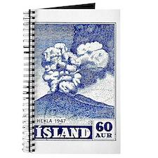 1948 Iceland Hekla Volcano Postage Stamp Journal