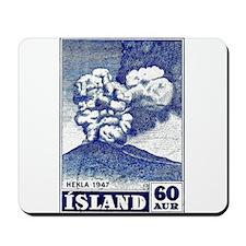 1948 Iceland Hekla Volcano Postage Stamp Mousepad