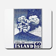 1948 Iceland Hekla Volcano Postage Stamp Mousepad