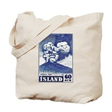 1948 Iceland Hekla Volcano Postage Stamp Tote Bag