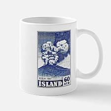 1948 Iceland Hekla Volcano Postage Stamp Mug