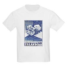 1948 Iceland Hekla Volcano Postage Stamp T-Shirt