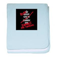 run zombies baby blanket