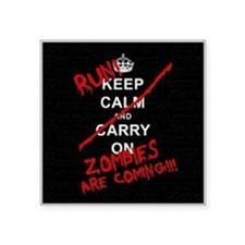 "run zombies Square Sticker 3"" x 3"""