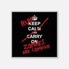 "run zombies Square Sticker 3"" x 3"""