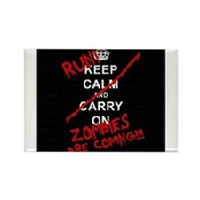 run zombies Rectangle Magnet