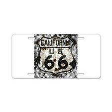 California Route 66 New Is Old Aluminum License Pl