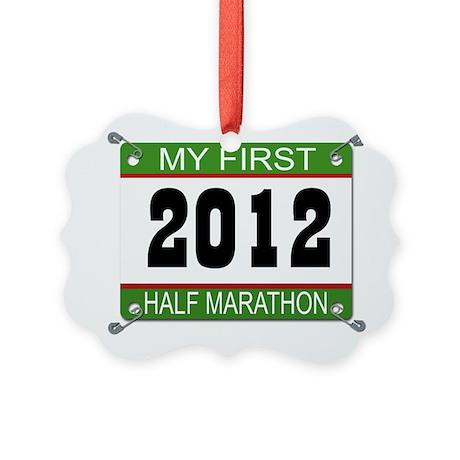 My First 1/2 Marathon Bib - 2012 Picture Ornament