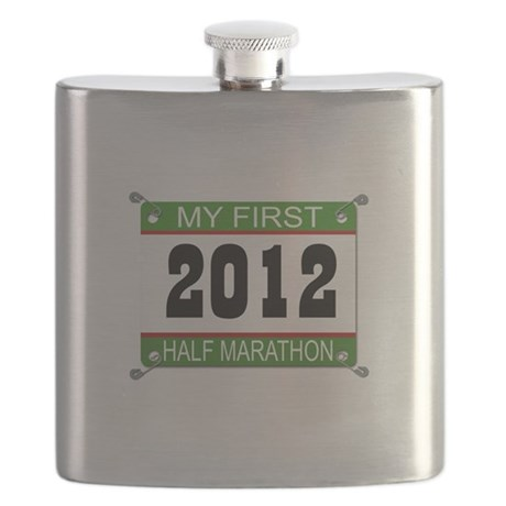 My First 1/2 Marathon Bib - 2012 Flask