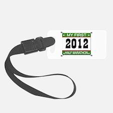 My First 1/2 Marathon Bib - 2012 Luggage Tag