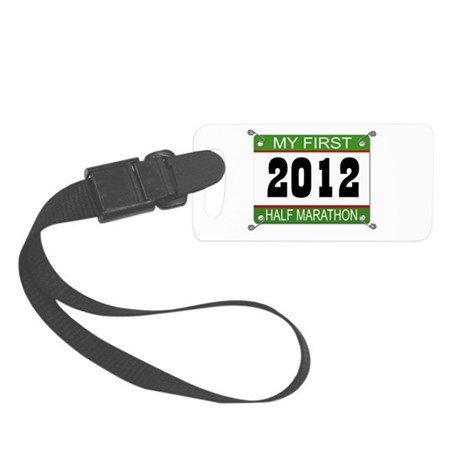 My First 1/2 Marathon Bib - 2012 Small Luggage Tag