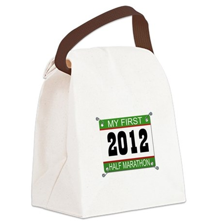 My First 1/2 Marathon Bib - 2012 Canvas Lunch Bag