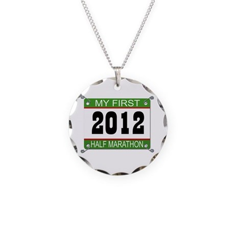 My First 1/2 Marathon Bib - 2012 Necklace Circle C