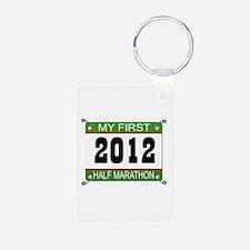 My First 1/2 Marathon Bib - 2012 Keychains