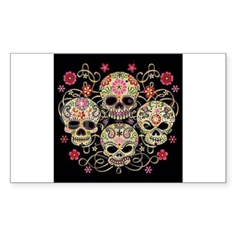 day of the dead Sticker (Rectangle)
