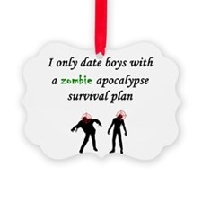 Zombie Dating Ornament