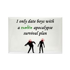 Zombie Dating Rectangle Magnet
