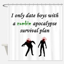 Zombie Dating Shower Curtain