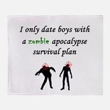 Zombie Dating Throw Blanket