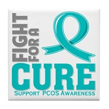 PCOS Fight For A Cure Tile Coaster