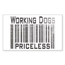 Working Dogs Rectangle Decal