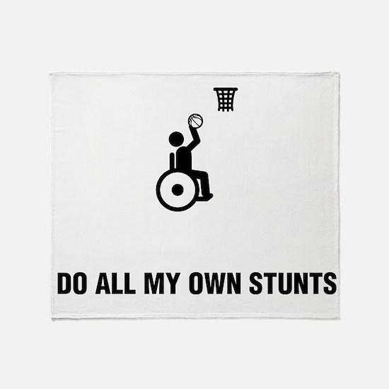 Wheelchair Basketball Throw Blanket