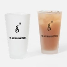Wheelchair Basketball Drinking Glass