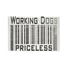 Working Dogs Rectangle Magnet