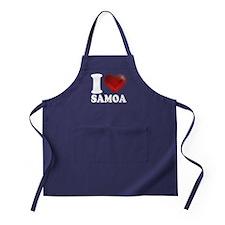 I Heart Samoa Apron (dark)