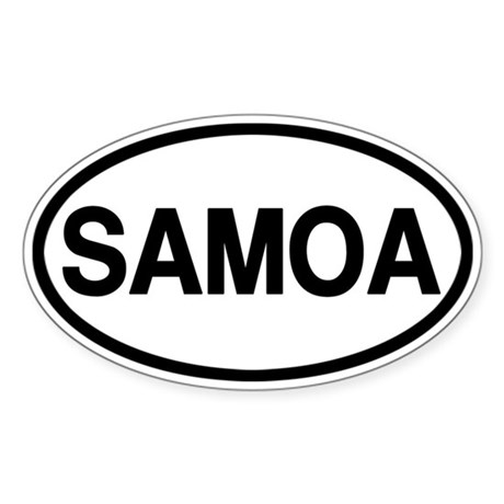 Samoa Sticker (Oval)