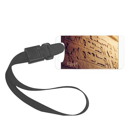 Hieroglyphic Wall Photo Small Luggage Tag