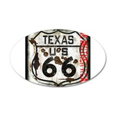 Texas Route 66 Used and Abused Wall Decal