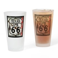 Texas Route 66 Used and Abused Drinking Glass