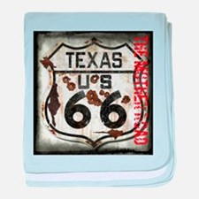Texas Route 66 Used and Abused baby blanket