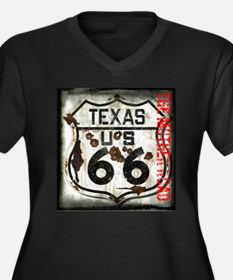 Texas Route 66 Used and Abused Women's Plus Size V