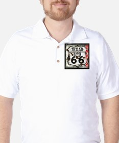 Texas Route 66 Used and Abused Golf Shirt