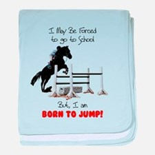 Fun Hunter Jumper Horse baby blanket