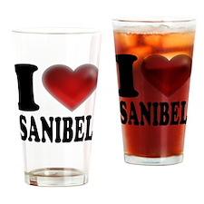 I Heart Sanibel Drinking Glass