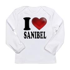 I Heart Sanibel Long Sleeve Infant T-Shirt